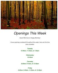 therapy openings loren cook on therapy openings this week at