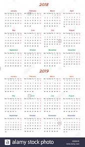 Kalender 2018 Hd 2018 Calendar Simple Vector Calendar Stockfotos 2018 Calendar