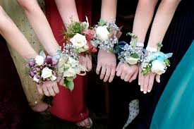 corsages for prom prom corsages beautiful dresses stock photo image of