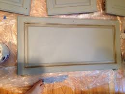 how i painted my kitchen cabinets without removing the doors diy