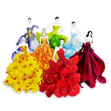 real petals grace ciao creates flower petal dresses using real flowers lovely