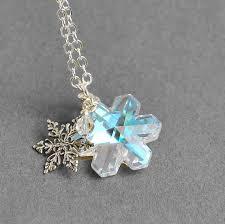 necklace swarovski crystals images Sterling silver snowflake necklace swarovski crystal jpg