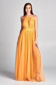 plunging neckline chiffon plunging neckline gold evening maxi dress