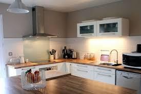 deco cuisine bois cuisine bois et blanc design
