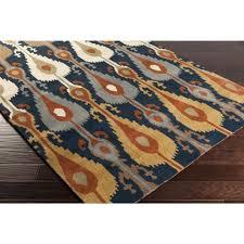 Ikat Outdoor Rug by Matmi Navy Blue Ikat Wool Rug Buy Online Large Area Rugs U2013 Sky Iris