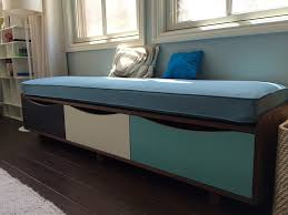Modern Storage Bench Blue Modern Storage Bench Home Inspirations Design Problems