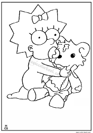 28 best simpsons coloring pages free online images on pinterest
