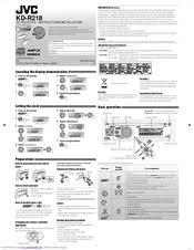 jvc kd r316 manuals