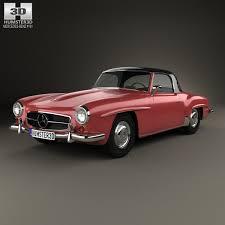3d class price mercedes sl class r121 hardtop 1955 3d model from humster3d
