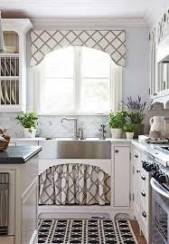 kitchen curtain window treatments tie up curtain pattern modern