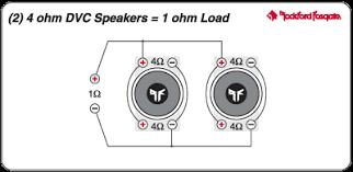 how to wire a 4 ohm sub into a 2 ohm load ecoustics com