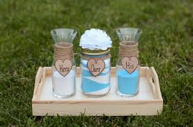 Sand Vases For Wedding Ceremony Personalized Rustic Wedding Unity Sand Ceremony Set Custom