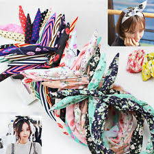 wire headband 10pcs mixed women rabbit bunny ear ribbon wire headband hair