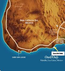 Map Of Cabo San Lucas Mexico by The Area