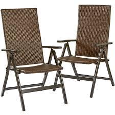 hand woven pe wicker outdoor reclining chairs set 2 walmart com