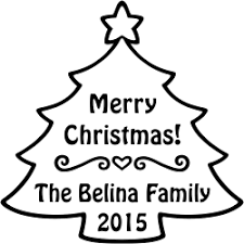 christmas tree personalized stamp simply stamps
