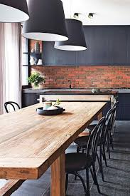 kitchen and dining room ideas solid timber dining table melbourne interior design