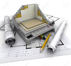 home construction plans technical details of home construction stock photo picture and