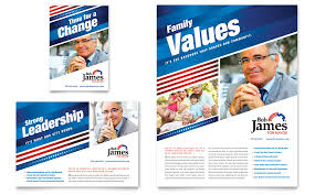 political campaign flyer u0026 ad template design political