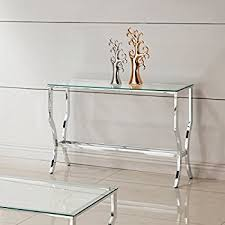 Glass Console Table Glass Console Table Contemporary Table Design Thestoneshopinc