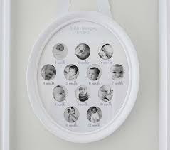 Pottery Barn Picture Frame White Oval First Year Frame Pottery Barn Kids