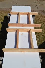How To Build A Trestle Table Remodelaholic Build A Patio Table With Built In Ice Boxes