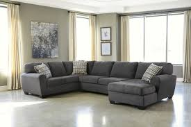Microfiber Sectional Sofa With Ottoman by Living Room Comfortable Charcoal Sectional For Elegant Living