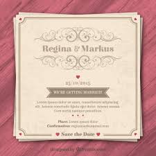 vintage wedding invitation retro wedding invitation vector premium