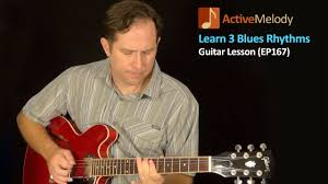 learn 3 blues rhythm patterns on guitar blues guitar lesson