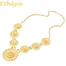 coin necklace gold images Ethlyn wholesale 55cm gold color coin necklace islam turkey coins jpg