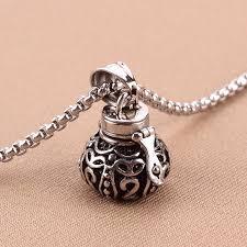 ashes necklace holder wholesale openable put ash magic box jar pendant vintage urn
