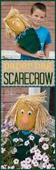 paper bag scarecrow a fun kids scarecrow craft in honor of lost