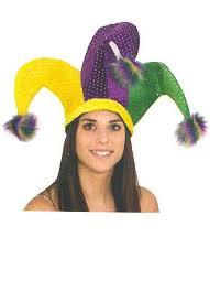 mardi gras hat tri color mardi gras jester hat with pom poms candy apple costumes