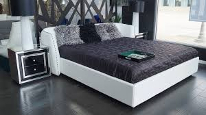 Platform Beds White Vitali Leather Platform Bed By Zuri Furniture White Zuri Furniture