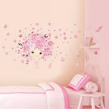online get cheap fairy butterflies aliexpress com alibaba group flower flower fairy pink cute baby girl mermaid butterfly home decor wall sticker for girls