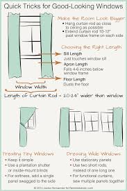 Short Wide Window Curtains by Remodelaholic Universal Tricks For Good Looking Curtain Panels