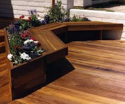 Wood Bench Designs Decks by Deck Seating Ideas Plants Doherty House Build Custom Deck