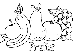 best ideas of coloring sheets for fruits and vegetables with