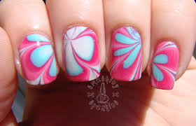 striped rainbow water marble nail art tutorial youtube nail art