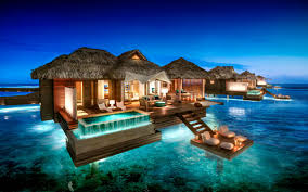 best suite for all inclusive honeymoon over water bungalow