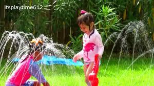 water splash u0026 slide fun backyard playdate inflatable kids pool