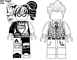 harley quinn and joker coloring pages lego batman movie get