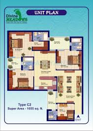 2 bhk 1200 sq ft apartment for sale in divine meadows at rs