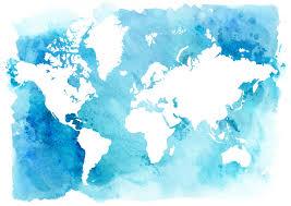 map vector watercolor world map vector 03 vector maps free