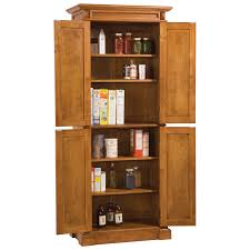 Oak Kitchen Pantry Cabinet Home Styles Americana Solid Hardwood Cottage Oak Finish Pantry
