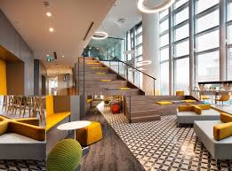 Lobby Stairs Design Office Tour Allianz Offices Istanbul Stadium Seats Interiors