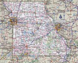 Missouri State Parks Map by Large Detailed Roads And Highways Map Of Missouri State With All