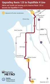 Seattle Bike Map H Line Rapidride Expansion Programs U0026 Projects King County