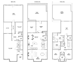 story bedroom townhouse floor plans quotes house plans 34323