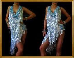 silver blue latin salsa fringe dance bodysuit dress ebay